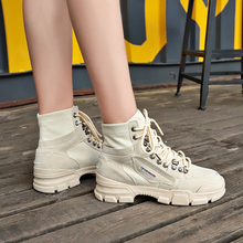 Martin boots thick bottom trend canvas shoes sports and leisure belt locomotive womens 5