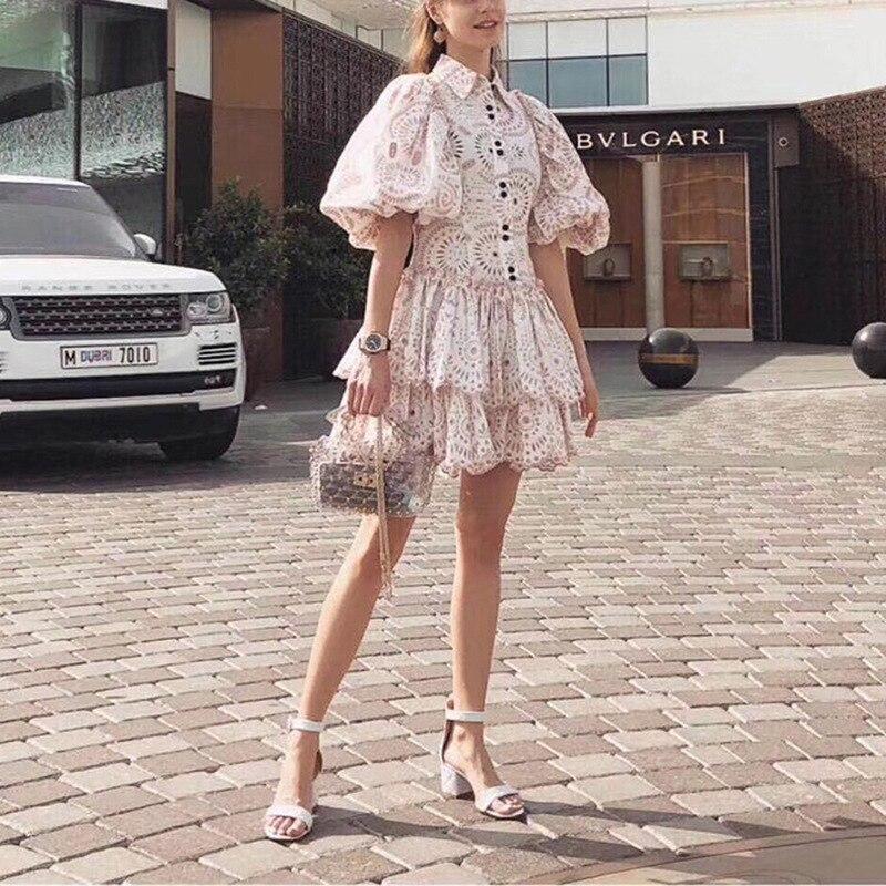 2019 جديد وصول زهرة النساء اللباس-في فساتين من ملابس نسائية على  مجموعة 1