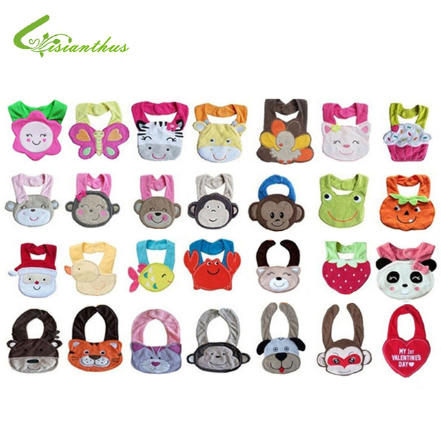 Wholesell 10pcs/lot Free Shipping Baby Bib Infant Saliva Towels Baby Waterproof Bib Baby Wear Kids Apron Nursing Cover TPW0001