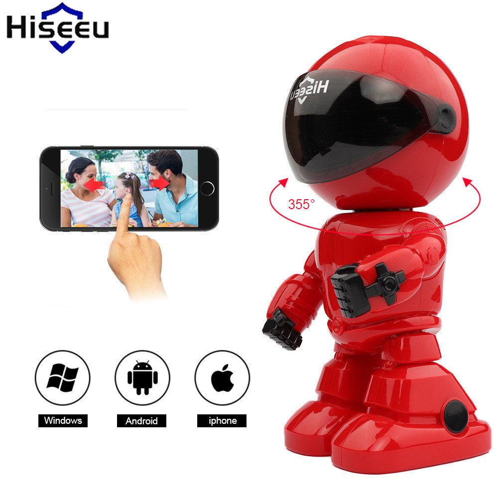 Hiseeu Security Camera HD Wireless IP Camera 960P 1.3MP Wi-fi Robot Camera Night Vision Two-way Audio P2P Endoscope Dropshipping howell wireless security hd 960p wifi ip camera p2p pan tilt motion detection video baby monitor 2 way audio and ir night vision