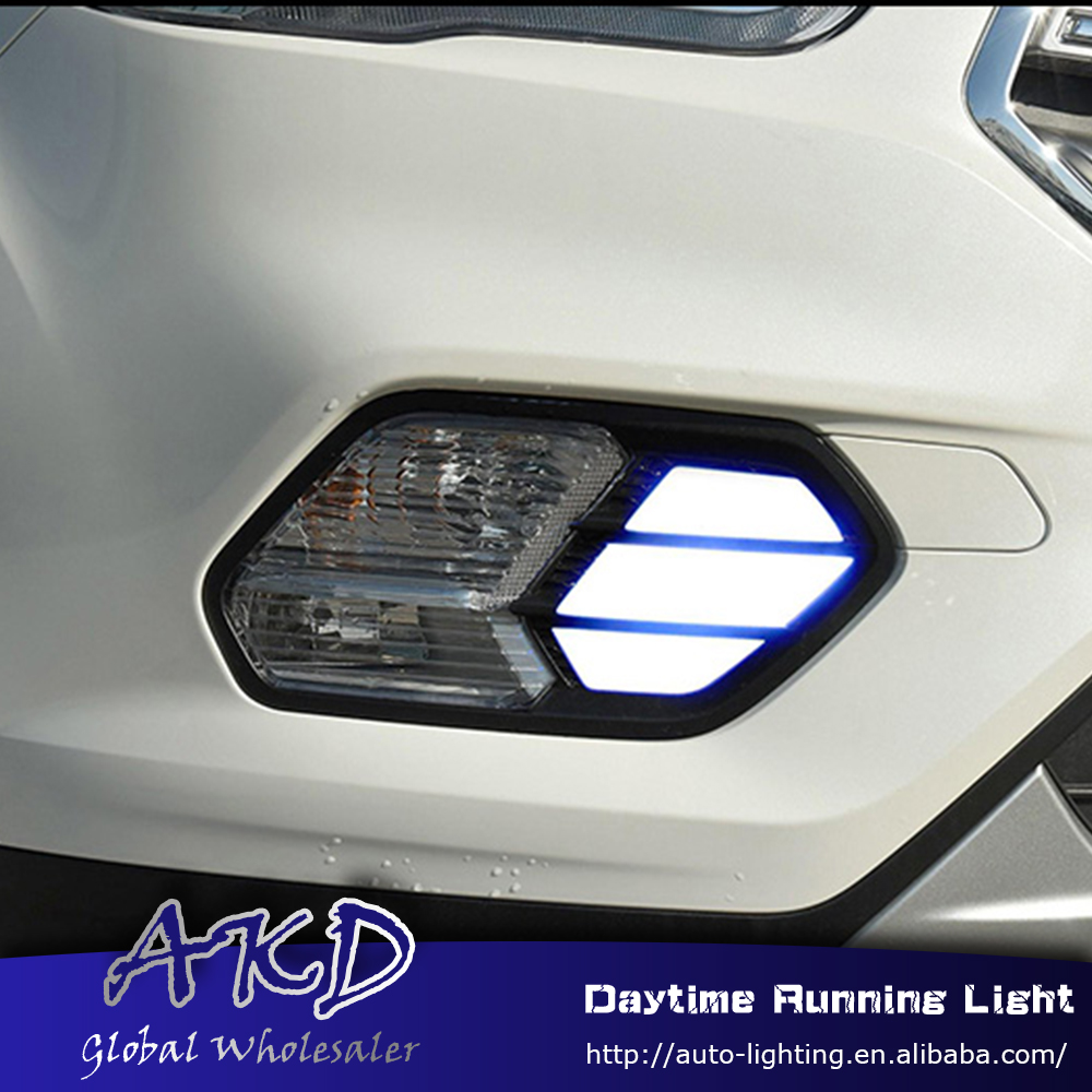AKD Car Styling for Ford Kuga Escape 2016-2017 LED DRL for New Kuga Turning Led Drl Running Light Fog Light Parking Accessories akd car styling for kia sportage r drl 2014 new sportager led drl korea design led running light fog light parking accessories