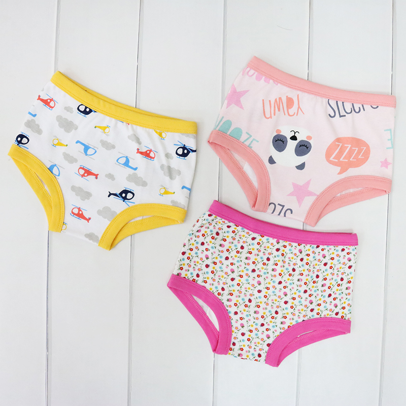 Little Q 0 3 years old baby panties 3 pieces lot children underwear kids 100 cotton clothes boys and girls bottom 2019 in Panties from Mother Kids