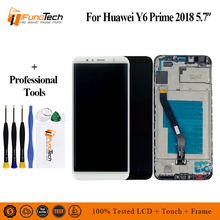 5.7 inch Full LCD DIsplay + Touch Screen Digitizer Assembly For Huawei Y6 Prime 2018, Y6 2018, For Honor 7A lcd Free Shipping 5 2 for huawei honor p8 lcd screen display touch screen digitizer assembly free shipping