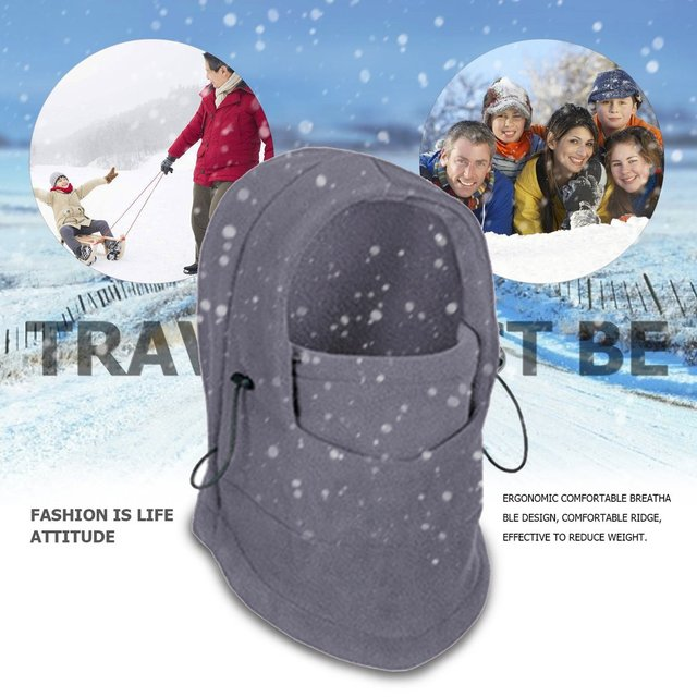 Winter Warm Fleece Full Face Cycling Mask Windproof Double Layer Riding Hat Multifunction Outdoor Sport Cap For Men & Women 4