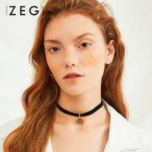 ZEGL birth year piglet necklace women chocker clavicle chain pig collar neckband jewelry net red necklace(China)