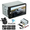 Double 2 Din Carro Estéreo MP5 MP3 Player de Rádio Bluetooth USB AUX + Estacionamento Camera ja18