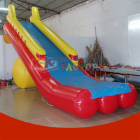 KK Commercial Garde Rocket Floating Water Inflatable Yacht Water Slide For Boat