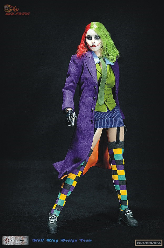 1/6 Female Joker Action Figure Full Set with Body Head Accessories Collections 1 6 soldier action figure the dark zone agent renegad with weapon model accessories full set collections