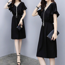 Spring and summer new style Fashionable small waist dress Loose mid-length large size