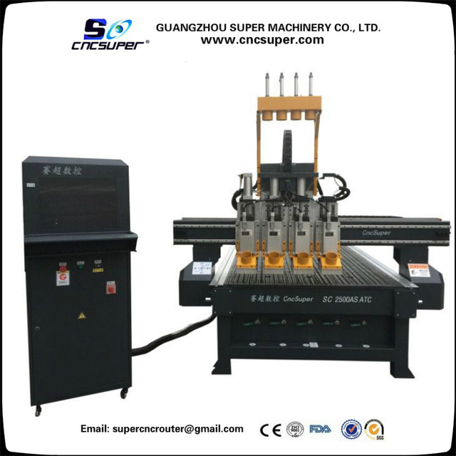 Furniture Industry Multi Heads Atc 4 Spindles Pneumatic Tool Changer