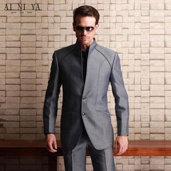 Fashionable men's suit Custom Made Mens Wedding Suits Business Suits Groom Tuxedos Slim Formal Blazers Custom  (coat + pants )