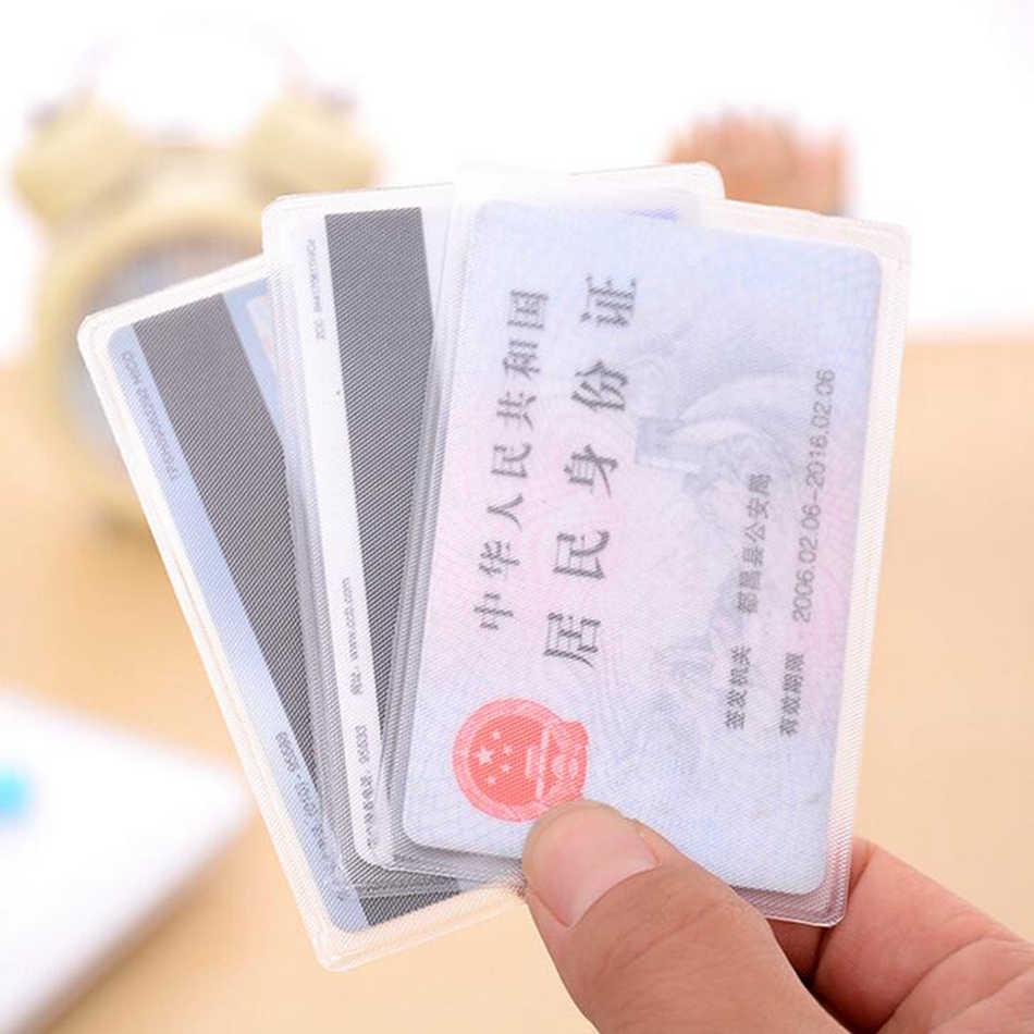 1 قطعة شفافة بطاقة الهوية الائتمان الأعمال حامل بطاقة فتاة PVC حافلة سيارة البنك Ic بطاقة حافظة للبطاقات حالة