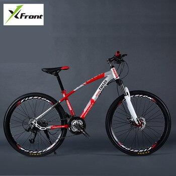 2b08827a0 Nova Marca de Aço Carbono Mountain Bike Quadro 24 27 30 Velocidade de 24 26  polegadas Roda Amortecimento MTB Bicicleta Ao Ar Livre esportes Bicicleta