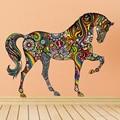 Criativo Colorido Cavalo Animal Adesivo de Parede Arte Mural Casa Decorativo Vinil Quarto Sala Home Decor 1 pcs