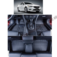 lsrtw2017 leather car floor mat carpet rug for mazda 6 mazda6 atenza gj  2012 2013 2014 2015 2016 2017 2018 2019 accessories задние фонари autolighting mazda6 2015 mazda 6 atenza