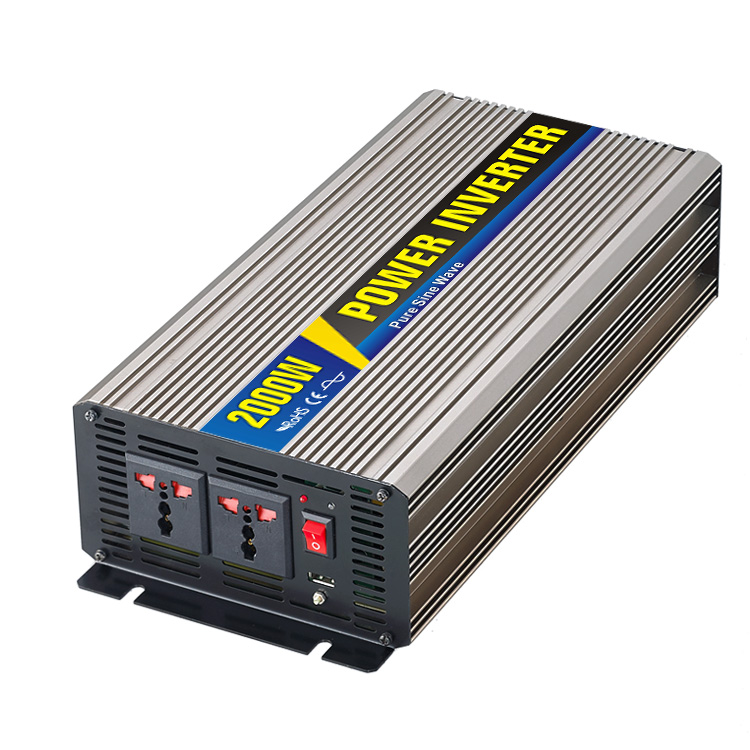 High efficiency 2000W Car Power Inverter Converter DC 12V to AC 110V or 220V Pure Sine Wave Peak 4000W Power Solar inverters