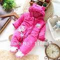Envío libre Al Por Menor de otoño invierno mameluco ropa de bebé mono del bebé recién nacido de navidad niña de algodón caliente general