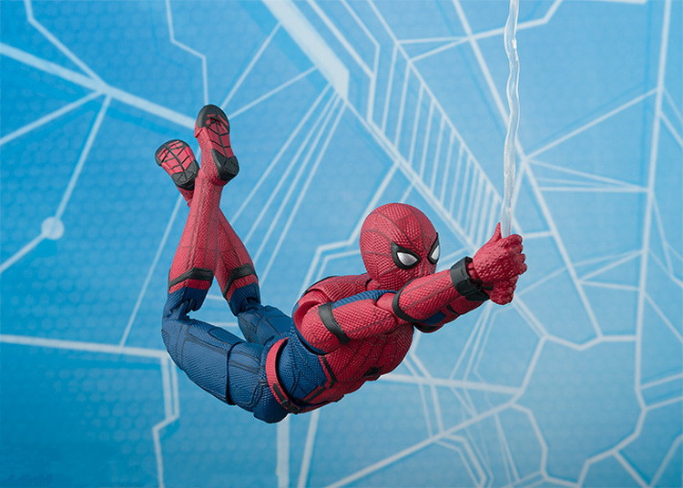 NEW hot 15cm Avengers Spiderman Super hero Spider-Man: Homecoming Action figure toys doll collection Christmas gift new hot 18cm super hero justice league wonder woman action figure toys collection doll christmas gift with box