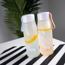 Ins explosion Portable Leakproof Large-Capacity Plastic Water Bottle Cute Elk Sports Water Bottle Student Household Kettle цена и фото