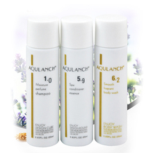 Mini bathing kit 25mlx3 Moisture perfume shampoo+Spa Conditioner Essence+Smooth fragrant body wash portable beauty health care
