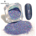 BORN PRETTY Starry Nail Glitter Powder Holographic Laser Glitters Dust Manicure Nail Art Decorations