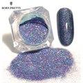 Nacido bastante estrellado uñas polvo holográfico láser brilla polvo de uñas de manicura arte Decoración