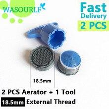 WASOURLF 2 шт. 18,5 мм Наружная резьба водосберегающий кран аэратор кран пузырьковый кухонный смеситель для раковины аксессуары для ванной комнаты