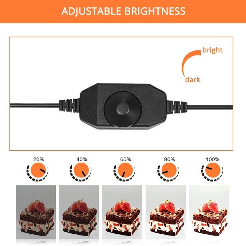 Caja de luz Travor 60*60CM caja de luz portátil Studio Photo LED Lightbox con 3 colores de fondo para fotografía de mesa luces LED - 6