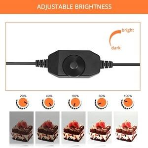 Image 5 - Luzes led portáteis para viagem, caixa de iluminação led com 3 cores de fundo para fotografia de tablet luzes de led