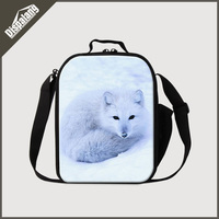 Dispalang newest fashion portable insulated lunch bags for children 3D zoo animal printing cooler bag cool fox food picnic bags