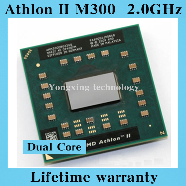 Lifetime warranty Athlon II M300 2.0GHz Dual Core AMM300 Notebook processors Laptop CPU Socket S1 638 pin Computer Original