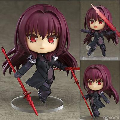 Fate Grand Order Lancer Scathach 743# Anime Cartoon Nendoroid Mini Action Figure