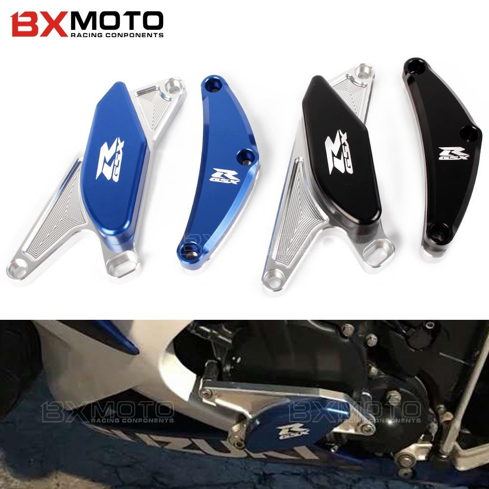Новая мотоциклетная обувь ЧПУ Защита двигателя мотоцикла Рамки Ползунки Крушение протектор для Suzuki gsx-r 600 750 GSXR600 GSXR750 GSX R 600 2006 2007- 2012