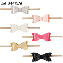 Newest 1 PC Girls Kid Baby Headbands With Bow Stretch HairBand Clothing Newborn Girl Elastic Bows Hair Accessories