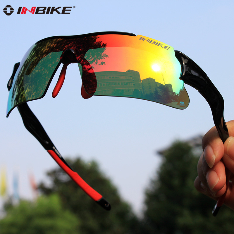 INBIKE Polarized Cycling Glasses Bike Driving Sunglasses Men Bicycle Cycling Eyewear Hiking Racing Goggles Eye Protector IG966 queshark polarized cycling sunglasses mountain road bike glasses riding bicycle goggles hiking sports eyewear with myopia frame