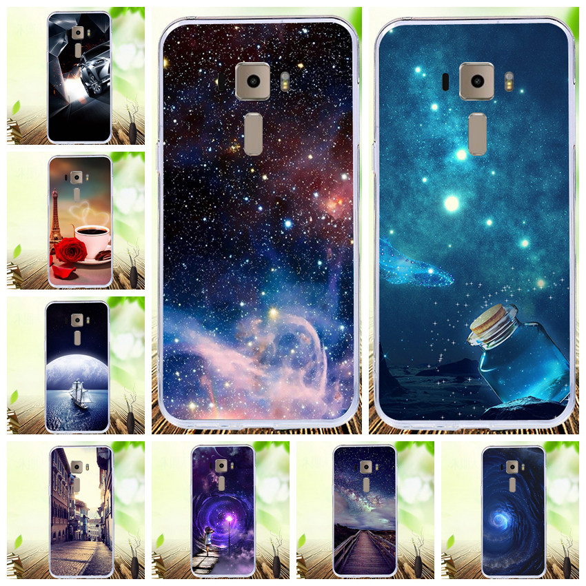 Lamocase Colorful Drawing Phone Cover For Asus ZenFone 3 Lite ZE520KL Z017D Z017DA Z017DB <font><b>ZE</b></font> ZE520 <font><b>520</b></font> 520KL <font><b>KL</b></font> Back Cover Cases image