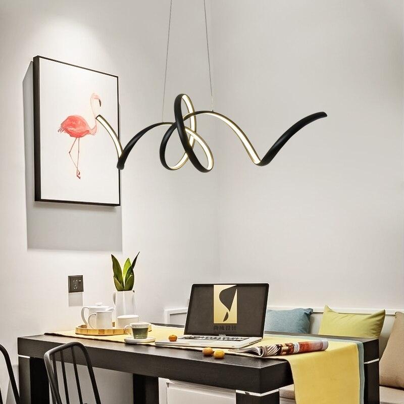 Black/white Modern led pendant lights living dining room kitchen aluminum hanglamp industrial lamp pendant Lamp light fixtures