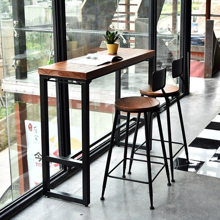 Bar Tables Wall Wood Retro Casual Coffee Table Bar