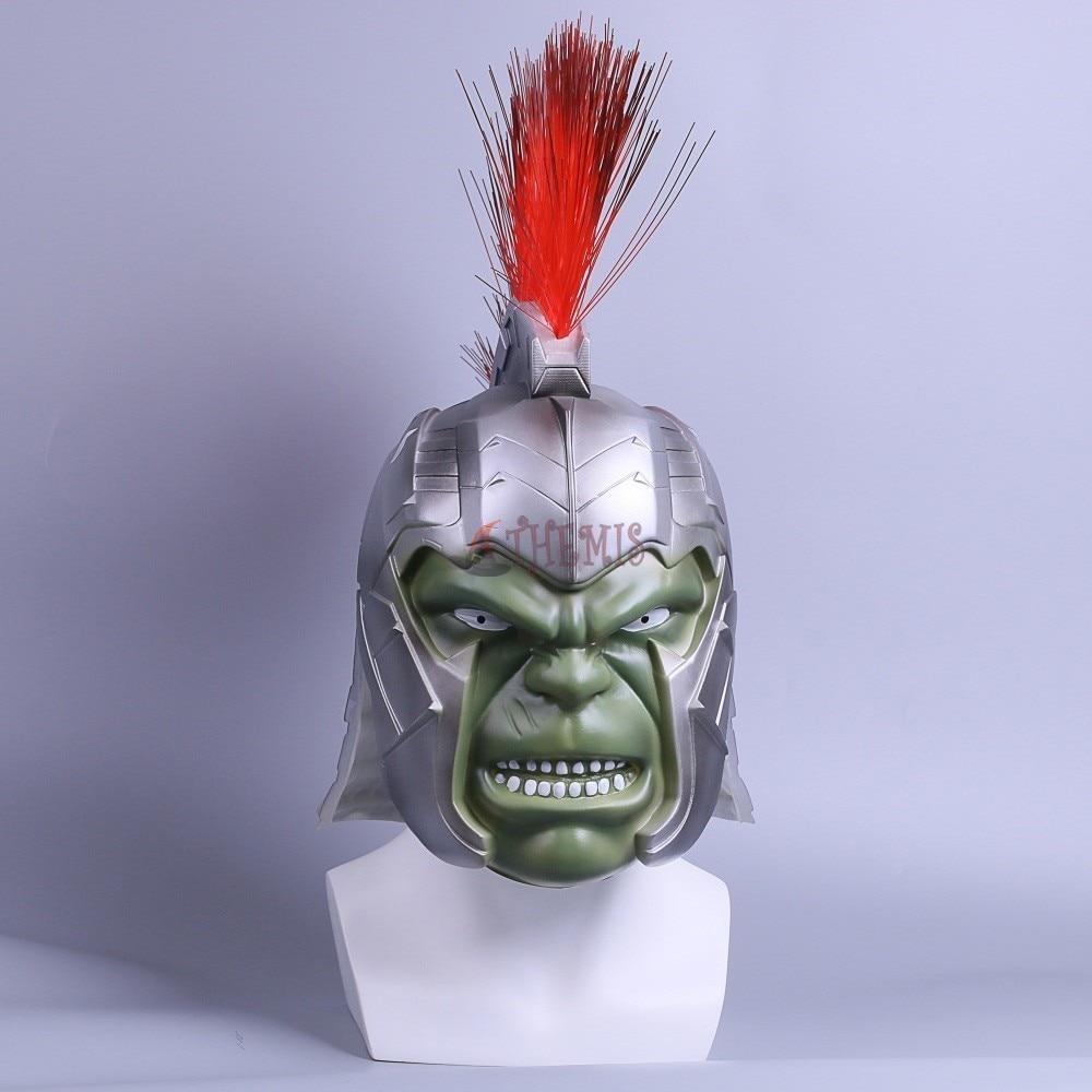 Athemis 2018 Movie Thor 3 Ragnarok H Raytheon Cosplay Hulk Helmet PVC Adult Masks Halloween Party Use
