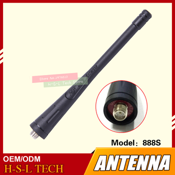 Original Walkie Talkie Rubber Antenna 400-470Mhz UHF Two Way Radio Antenna For Baofeng BF-888S BF-666S BF-777S BF-999S BF-600S