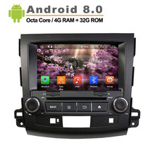 Android 8 0 double Din Car DVD for Mitsubishi Outlander 200 2012 with Mirror Link auto