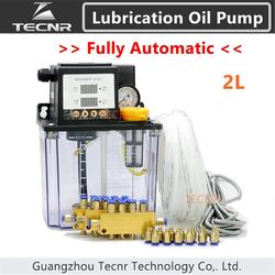 TECNR conjunto completo CNC bomba de aceite de lubricación automática 2L digital temporizador electrónico bombas de engranajes para máquina cnc