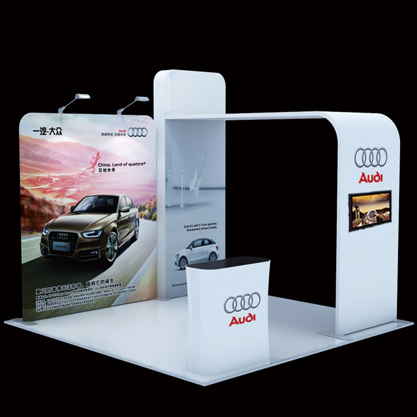 Ft Portable Tension Fabric Trade Show Display Pop Up Stand Booth - Portable car show display stand