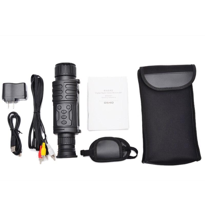 5X40 Vision nocturne numérique monoculaire infrarouge 940NM Vision nocturne portée de chasse avec 8G TF carte livraison gratuite - 5