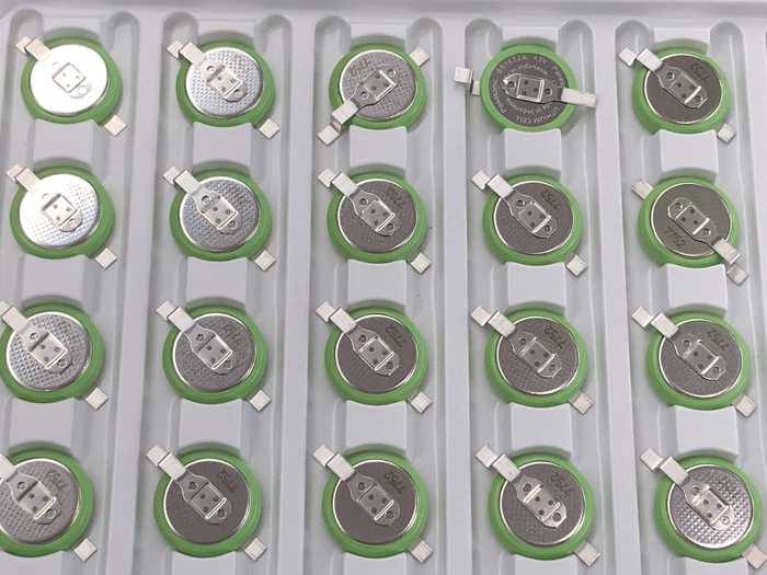 20pcs lot New For Panasonic BR1632A 3V with SMD Foot Button Wide Temperature BR1632A FAN Battery 125 Degree High Temperature in Button Cell Batteries from Consumer Electronics