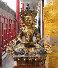"""USPS a EE. UU. S3585 27 """"Tíbet Budismo Cobre Bronce Cloisonne Amitayus Longevidad Dios Estatua de Buda (B0328)"""