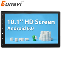 Eunavi 2 Din Android 6.0 2G RAM Tam Dokunmatik Araba PC Tablet çift din Ses GPS Navi Araba Stereo Radyo No-DVD mp3 Player BT iPod