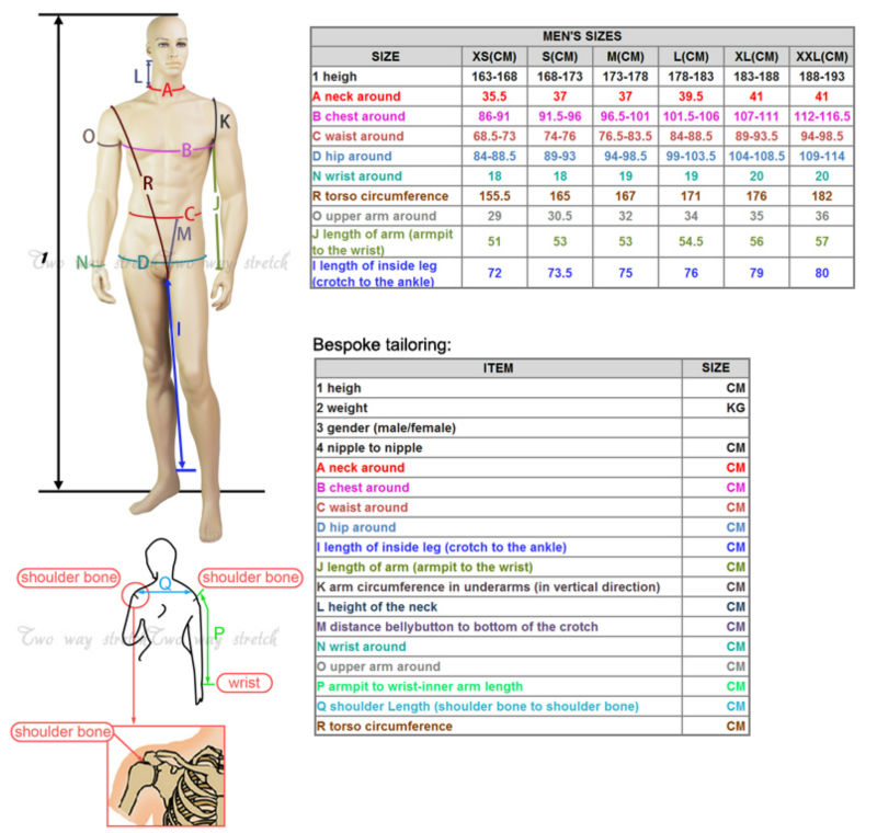 SY-010 size chart