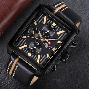 Image 4 - NAVIFORCE Men Fashion Creative Quartz Wrist Watch Sports Watches Top Brand Waterproof Leather Strap Clock Male Relogio Masculino