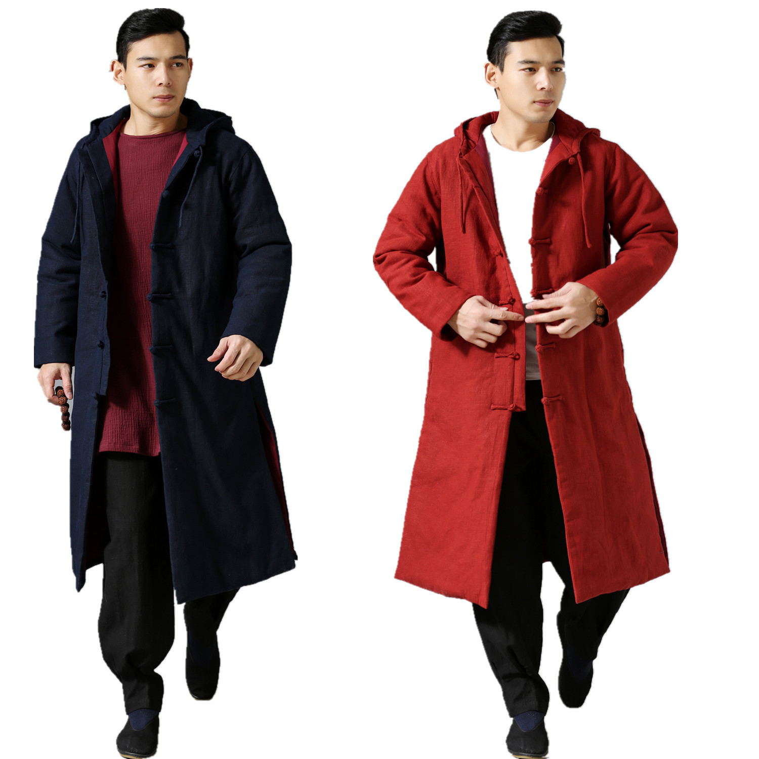 Jacket National Wind Huai Cotton And Linen Literary Leisure Hooded Cotton-padded Clothes To Thicken The Wholesale